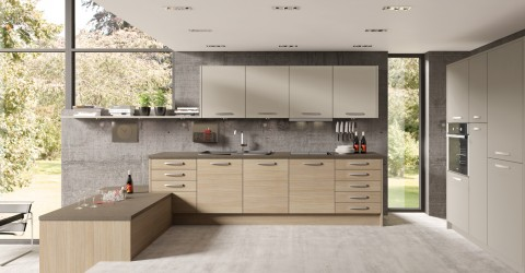 Mix and Match Tempo Natural Aragon Oak with Stone Grey